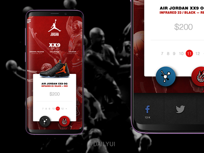 Daily UI 010 -  Social Share basketball share social 010 challenge uidesign dailyui