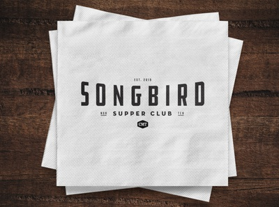 Songbird Supper Club culinary popup typography logo branding graphic design design