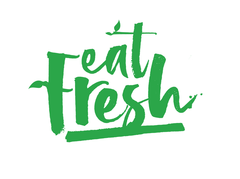 Eat Fresh culinary logo typography graphic design design