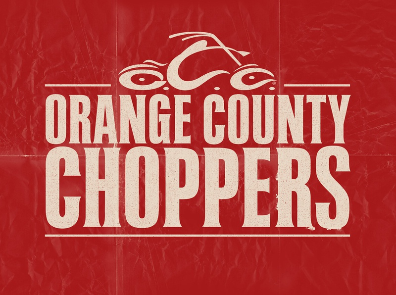 Orange County Choppers pipes motorcycle cmt broadcast design branding typography logo graphic design design