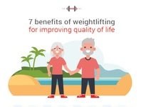 Weightlifting Improving Quality of life vectorart weightlifting elderly avatar vector art illustration vector artwork adobe illustrator cc adobe vector design