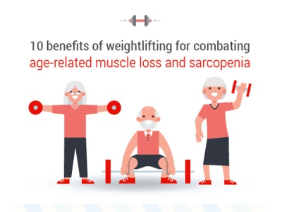 Weightlifting for combating age related muscle loss weights elderly weightlifting avatar web vector art illustration vector artwork adobe illustrator cc adobe vector design