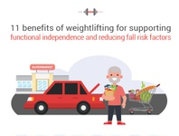 Weightlifting for supporting functional independence weights car elderly weightlifting web vector art illustration vector artwork adobe illustrator cc adobe vector design