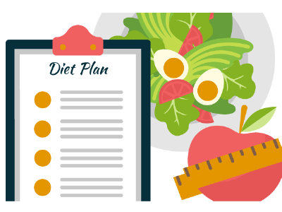 Diet Plan web vector artwork vector art vector illustration design adobe illustrator cc adobe
