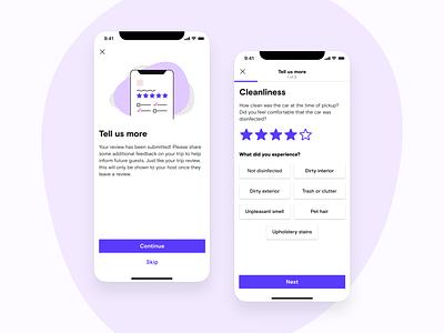 Granular ratings flow turo visual design digital illustration stars reviews ratings product design ux ui
