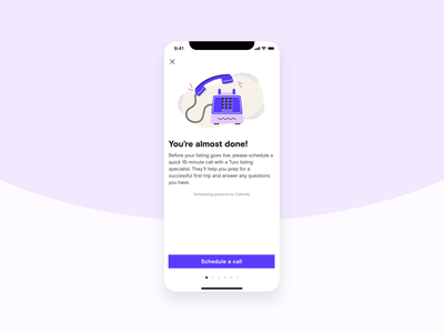 New host on-boarding phone illustration product design ui ux turo