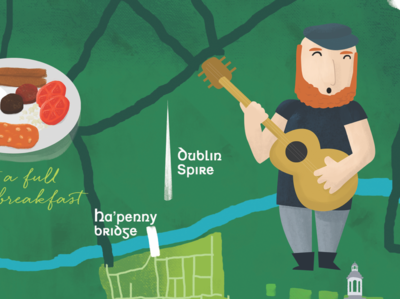 Illustrated Map of Dublin