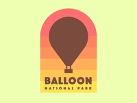 Hot Air Balloon badge logo - The Daily Logo Challenge 02