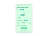 Car Loan Calculator - DailyUI 004