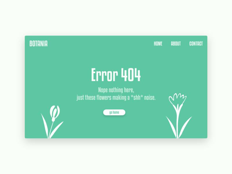 Error 404 - Daily UI 008 experience interface user 404 web  design web webpage error 404 dailyui 008 dailyui ui