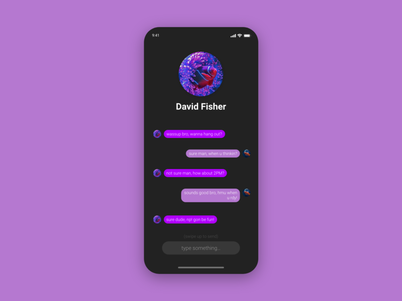 Direct Messaging - DailyUI - 013 dailyui 013 ui ux ux experience interface user ui dailyui chat hangout friend contact contacts friends social app social messaging app messaging message