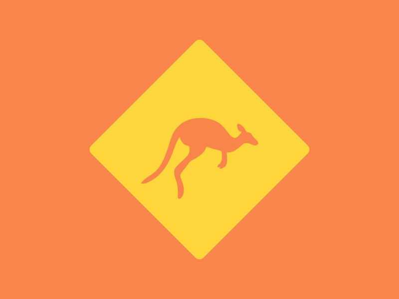 Kangaroo logo - The Daily Logo Challenge - 19 australia illustration kangaroo dailylogochallenge dailylogo logo