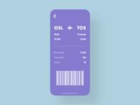 Boarding Pass - DailyUI - 024