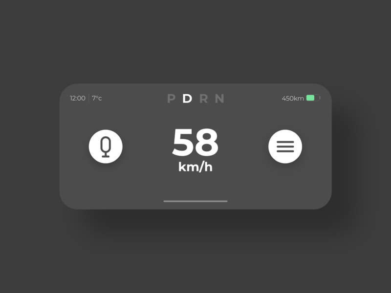 Car Interface - DailyUI - 034 car interface autopilot autonomous electric vehicle ev electric car car interaction experience user user interface dailyui 034 ui dailydesignchallenge dailydesign dailychallenge dailyui daily