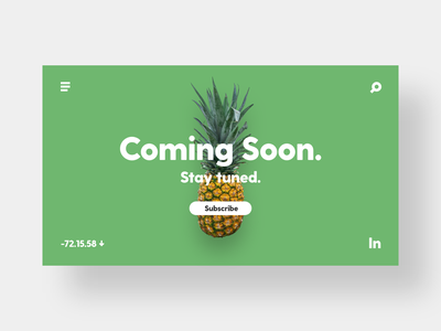 Coming Soon - DailyUI - 048 coming soon stay tuned coming soon page coming soon ixd ux ui user interaction experience interface dailydesignchallenge dailyui challenge dailychallenge dailyuichallenge dailydesign dailyui 048 dailyui daily