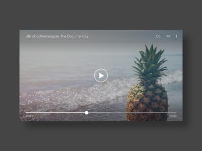 Video Player - DailyUI - 057