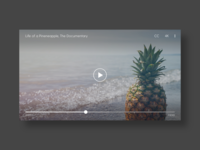 Video Player - DailyUI - 057