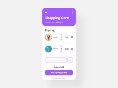 Shopping Cart - DailyUI - 058