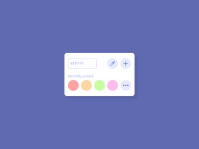 Color Picker - DailyUI - 060