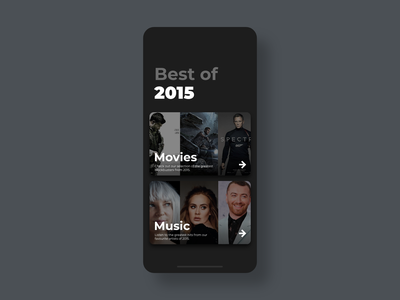 Best of 2015 - DailyUI - 063 top best of 2015 best of interaction experience interface ixd uiux ux ui user challenge dailydesignchallenge dailychallenge dailyuichallenge dailyuidesign dailydesign dailyui 063 dailyui daily