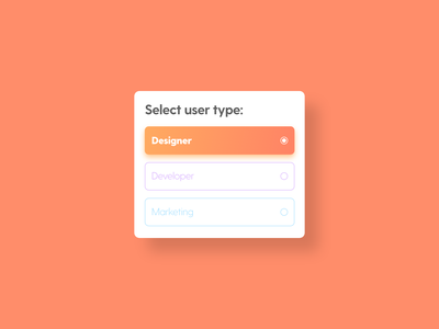 Select User Type - DailyUI - 064 select user type select box select interaction experience interface ixd uiux ux ui user dailydesignchallenge dailydesign dailychallenge dailyuidesign challenge dailyuichallenge dailyui 064 dailyui daily
