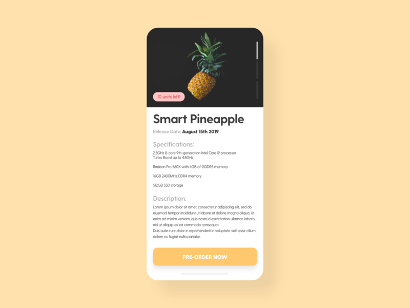 Pre-Order - DailyUI - 075 coming soon upcoming product order pre-order preorder experience interface interaction ixd uiux ux ui user challenge dailyuidesign dailyuichallenge dailyui 075 dailyui daily