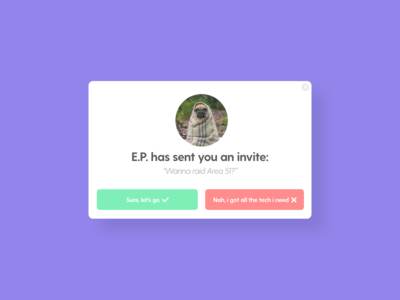 Pending Invitation - DailyUI - 078