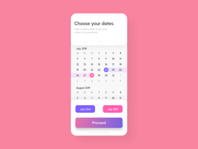 Date Picker - DailyUI - 080