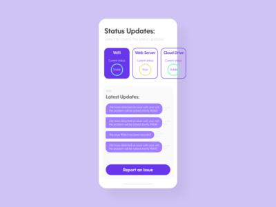 Status Update - DailyUI - 081