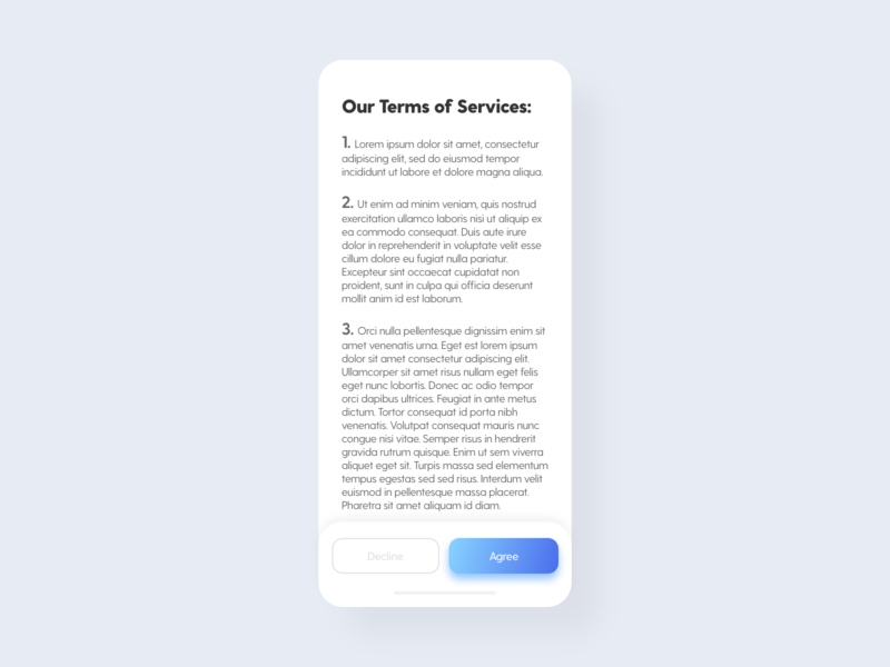 Terms of Service - DailyUI - 089 terms of service terms dailydesign dailychallenge challenge dailyuichallenge dailyuidesign interaction experience interface ixd uiux ux ui user dailyui 089 daily dailyui
