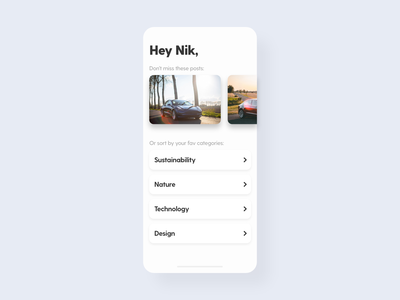 Curated for You - DailyUI - 091 for you personal dailychallenge challenge dailyuichallenge dailyuidesign curated for you curated interaction experience interface ixd uiux ux ui user dailyui 091 dailyui daily