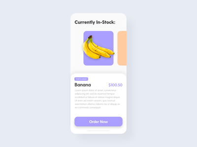 Currently In-Stock - DailyUI - 096 order now order product currently in-stock in stock stock dailychallenge challenge dailyuichallenge dailyuidesign interaction experience interface user dailyui 096 dailyui daily