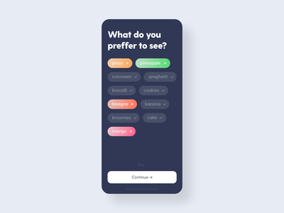 Categories - DailyUI - 099 food filter categories category ixd uiux ux ui experience interaction interface user dailyui 099 dailyui daily