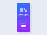 DailyUI Landing Page Redesign - DailyUI - 100