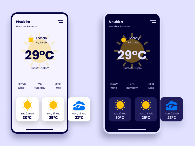 Weather App Concept android mobile app ios ui design ux design app concept weather app web design app design uiux design ux ui