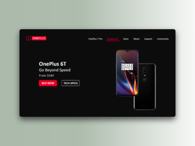 OnePlus Landing Page Concept