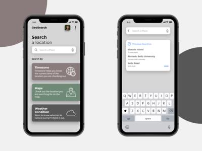 GeoSearch App Design