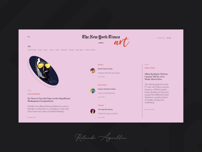 The New York Times interface interaction ux ui webdesign web website paper magazine newspaper