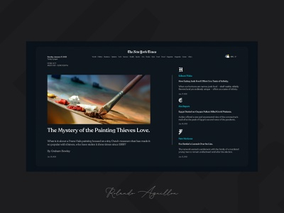 The New York Times II redesign concept webdesign web website ux ui magazine newspaper new york