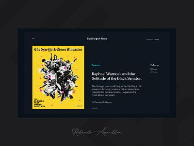 The New York Times III redesign concept webdesign web website ux ui magazine media newspaper new york
