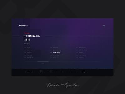 Boombox | Quicksite concept ux ui webdesign web website music app beat boombox music