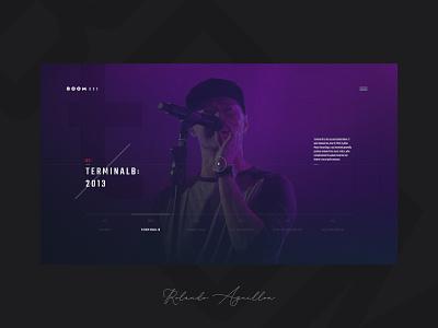 Boombox | Quicksite 2 concept webdesign web website ux ui music player pop song music boombox