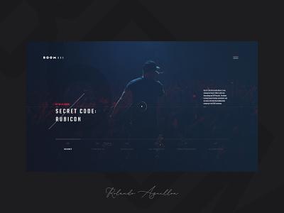 Boombox | Quicksite 3 webdesign web website ux ui musician boombox music art music player music