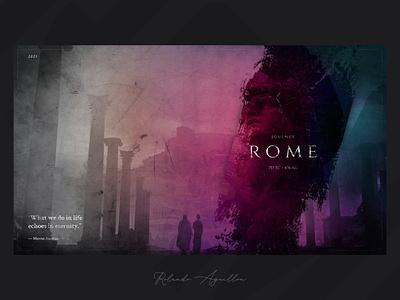 Journey | Rome 753 BC concept webdesign web website ux ui illustraion antique journey italy ancient