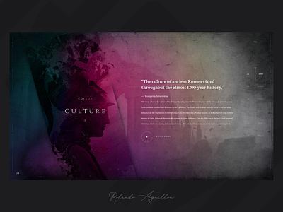 Journey | Rome 753 BC antique ancient illustraion webdesign web website ux ui journey