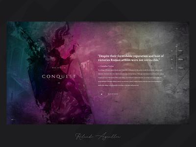 Journey | Rome 753 BC illustration concept website webdesign ux ui web gladiators antique ancient rome