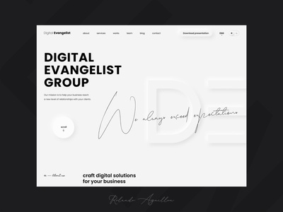 Digital Evangelist Group website webdesign ux ui web corporate branding corporate identity corporate design