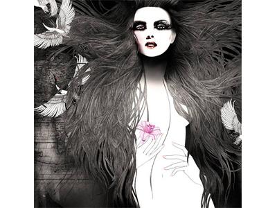 """A Journey around the Female Body"" line art feminine details luxury brand fashion illustration advertising illustration"
