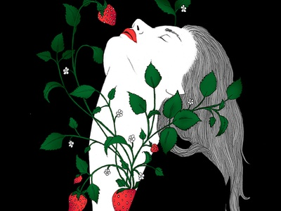 Ma Fraise artwork noumeda carbone love is love feminine freelance illustrator graphic art line art illustration drawing