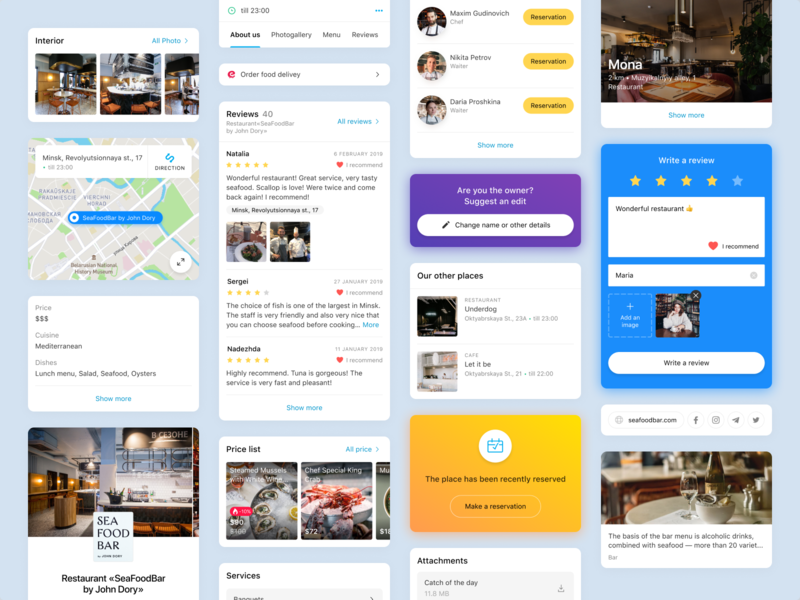 Personal Page system cross-platform artox redesign cards home page personal page product ui ux